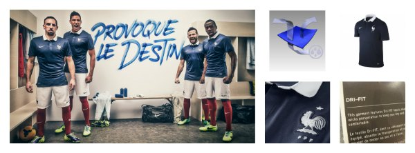 Le maillot FFF/Nike de l'équipe de France pour la Coupe du Monde 2014