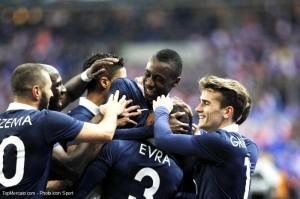 Les Bleus pendant France-Jamaïque