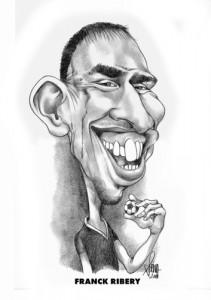 Franck Ribéry caricature phrase culte