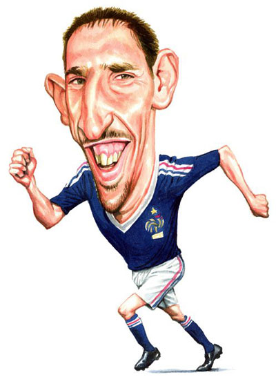 Franck Ribery phrases cultes caricatures