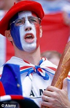 supporter français béret baguette