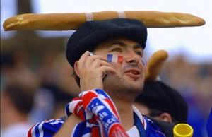 déguisement supporter français baguette béret