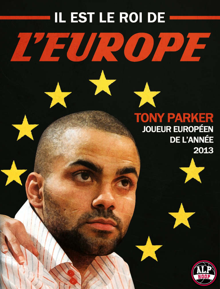 Parker joueur européen de l'année 2013 (crédits: Alphoop)
