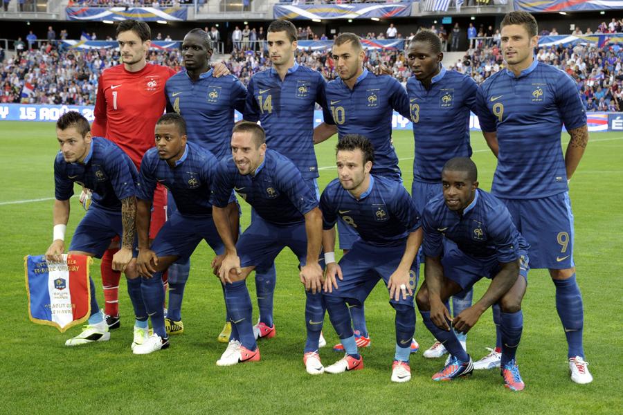 Le groupe des Bleus pour la Coupe du Monde