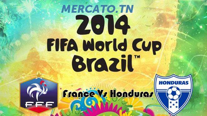 Affiche France-Honduras Coupe du Monde