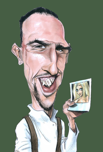 Ribéry phrases cultes caricature