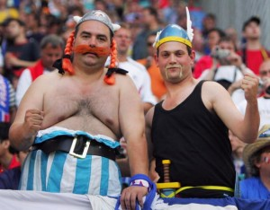 déguisment supporter Asterix and Obelix