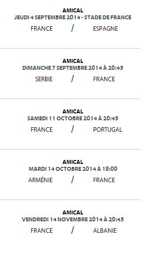 matchs amicaux equipe de France Espagne
