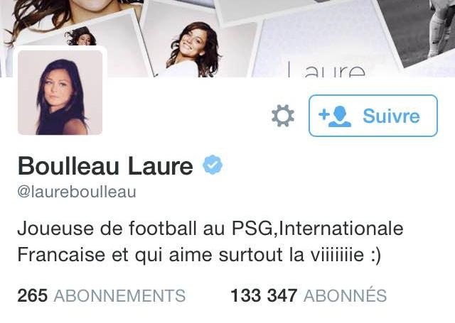 Compte Twitter de Laure Boulleau: + de 130 000 abonnés